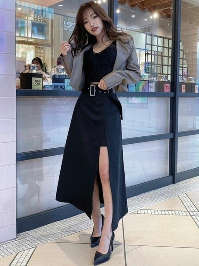 RESEXXYのスカート「レイヤードフレアスカート」を使ったコーディネート