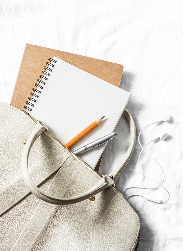 バッグに入ったノート